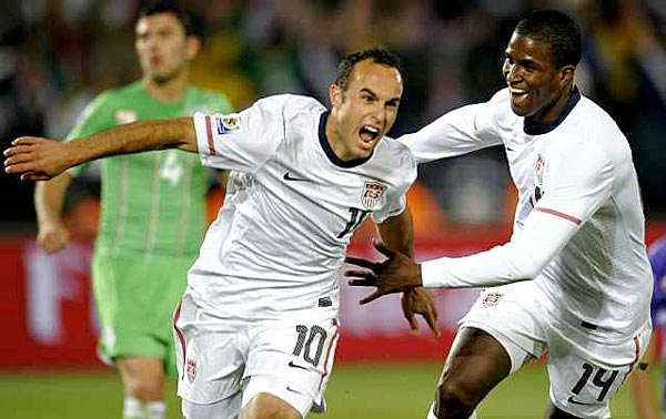 Donovan, after scoring the go-ahead goal against Algeria in the American's final group-stage match.