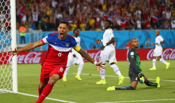 Dempsey after scoring a goal just seconds into the start of the World Cup.