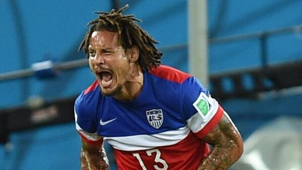 Jermaine Jones after an absolute wonder-strike to equalize in the 64th minute