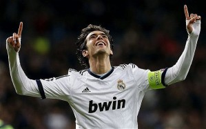 Kaka after scoring a goal for Real Madrid in 2009