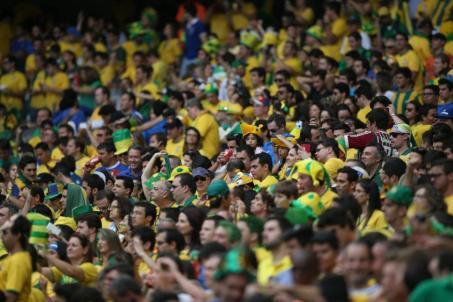 Brazilian fans never go away.