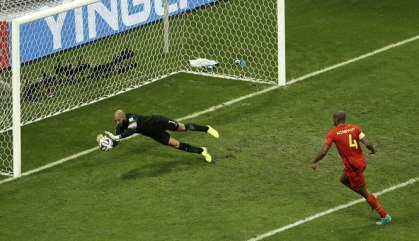 Superman Tim Howard almost saving the U.S. from the Belgian onslaught.