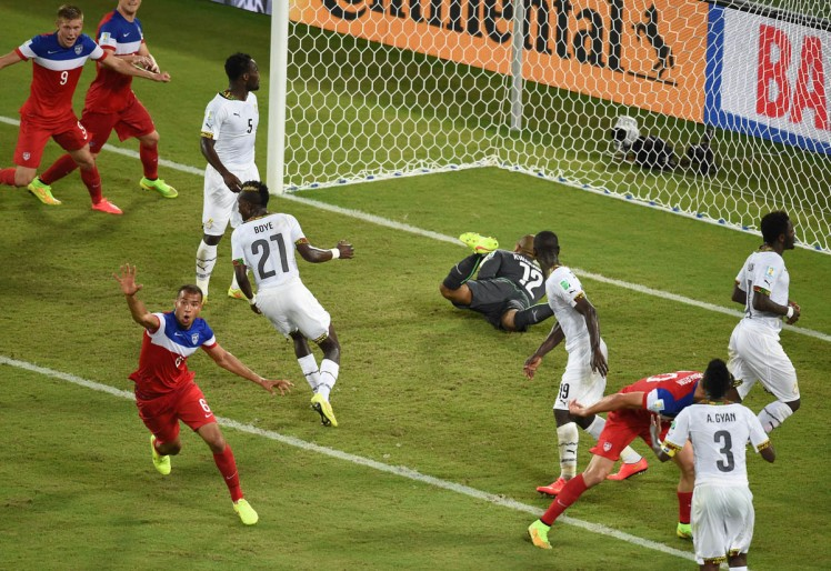 John Brooks scores the go-ahead goal off a Zusi corner in the 86th minute. A goal that will always be remembered in US soccer history.