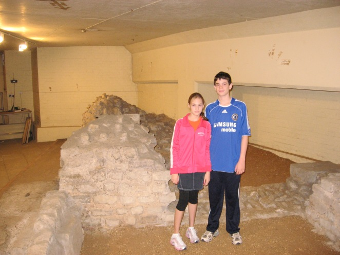 Me with my sister at the British museum in 2006 and wearing my first Chelsea jersey and some cool pants.