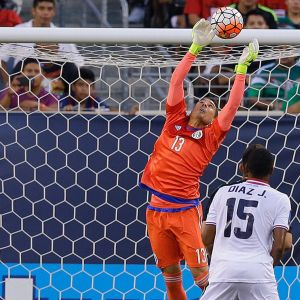Ochoa made some crucial saves against Costa Rica in the quarters
