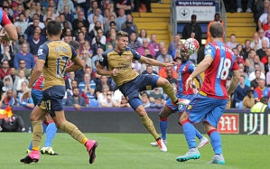 Giroud will look to build on his first goal against Liverpool