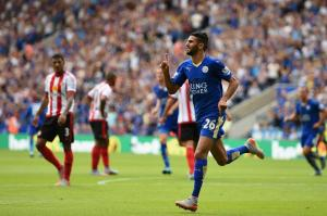 Leicester's Riyad Mahrez was the player of the weekend