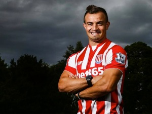 Shaqiri will look to make a strong debut this weekend for Stoke
